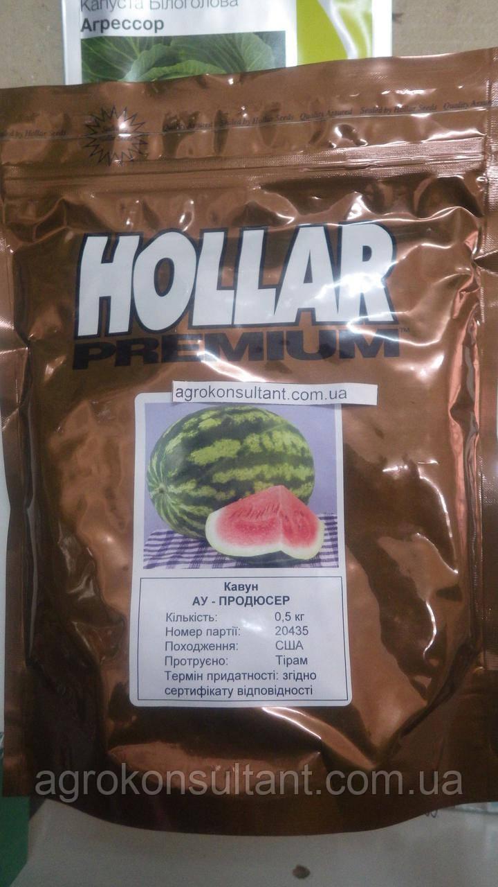Насіння кавуна АУ-Продюсер / Hollar Seeds (500г) - вдосконалений сорт відомого сорту Крімсон Світ