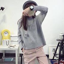 Женский мягкий свитер с длинным рукавом 42-44 р, фото 3