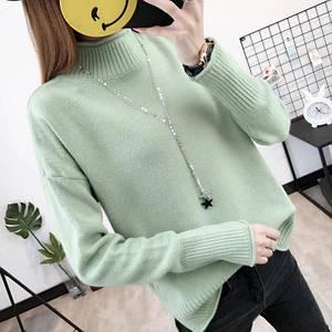 Женский мягкий свитер с длинным рукавом 42-44 р
