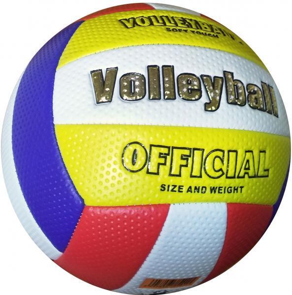 Мяч волейбольный soft touch (бело-сине-красно-желтый)