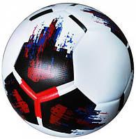 Мяч футбольный OMB Ball бело-черно-красный размер 4