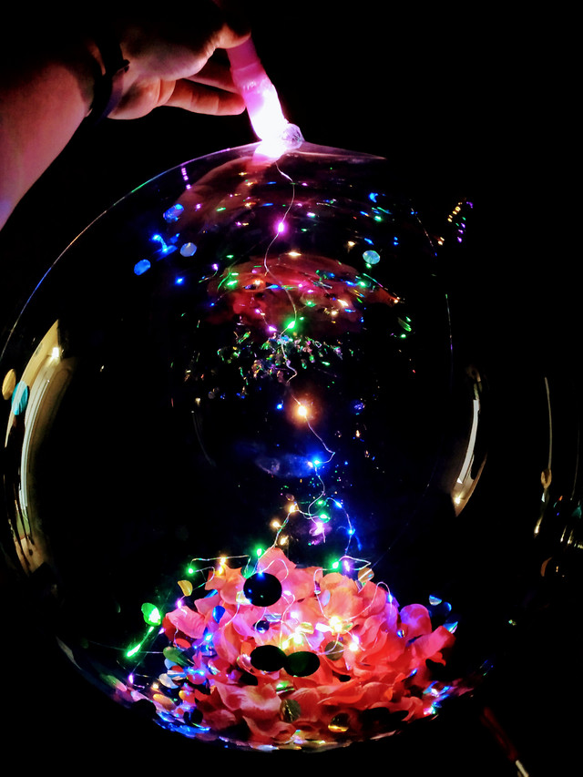Bubbles со светодиодной нитью