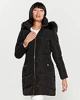 Женский оригинальный черный зимний пуховик с капюшоном Karl Lagerfeld Paris (размер М)