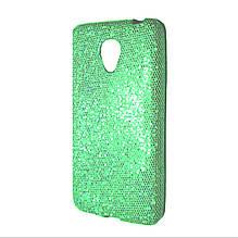 Силикон Glitter Meizu M2 Mini (зеленый)
