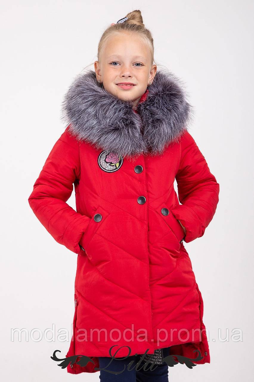 Куртка  на девочку,  на зиму с мехом