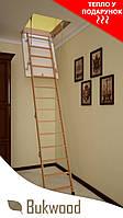 АКЦИЯ!!! Чердачная лестница Bukwood ECO Long 110x60, 110x70, 110x80, 110x90 ТЕРМОИЗОЛЯЦИЯ КРЫШКИ В ПОДАРОК!