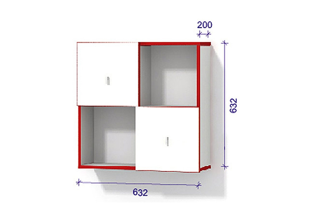 Модульная система 1 с дверцами - Модуль 1