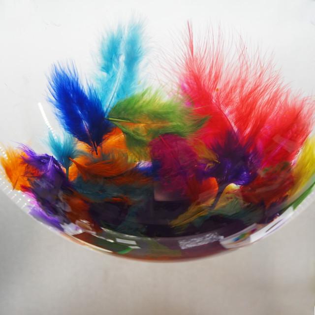 шар с перьями