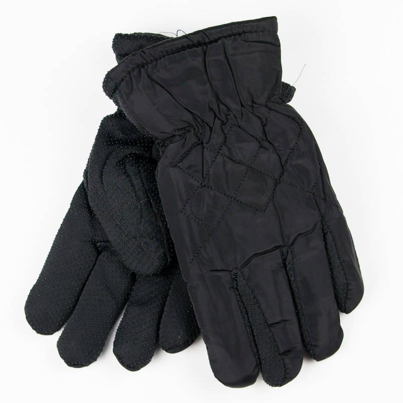 Рукавички для хлопчиків з антиковзною поверхнею 4-6 років №19-16-1 чорний, фото 2