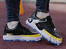 Женские кроссовки Nike Air Force 1 Jester XX Black Sonic/Yellow Arctic Orange AT2497-001, фото 2