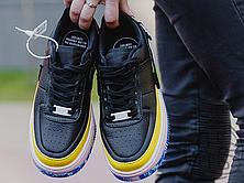 Женские кроссовки Nike Air Force 1 Jester XX Black Sonic/Yellow Arctic Orange AT2497-001, фото 3