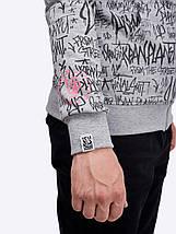 Чоловіча сіра толстовка /Мужская молодежная толстовка с принтом Urban Planet ORIGINAL SHIT H MEL, фото 3