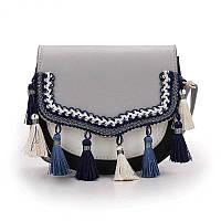 Маленькая женская сумочка в этно стиле серого цвета, фото 1