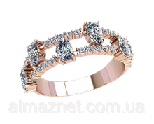 Золотое кольцо без накладок Алесса-2
