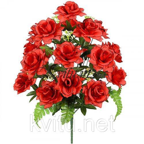 Букет 18 роз искусственных Соблазн , 67см