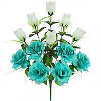Букет бутоны и розы односторонние, 44см