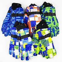Оптом детские яркие перчатки для мальчиков №18-12-7, фото 1