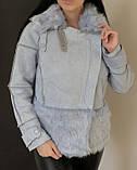 Женское пальто с пышным мехом, фото 3