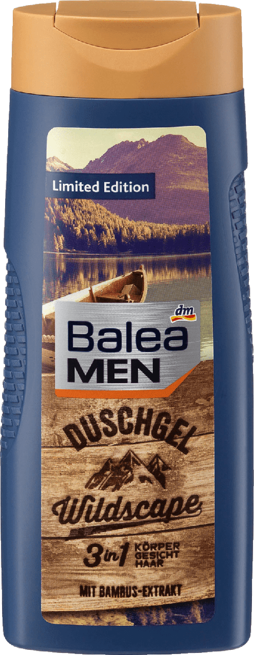 Гель для душа Balea Men 3 in 1 Wildscape, 300 мл.