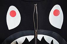 Мужская кофта - свитшот в стиле Bape Zip черная-камуфляж, фото 3