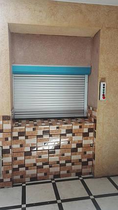 Подъёмник-лифт кухонный в кирпичной шахте., фото 2