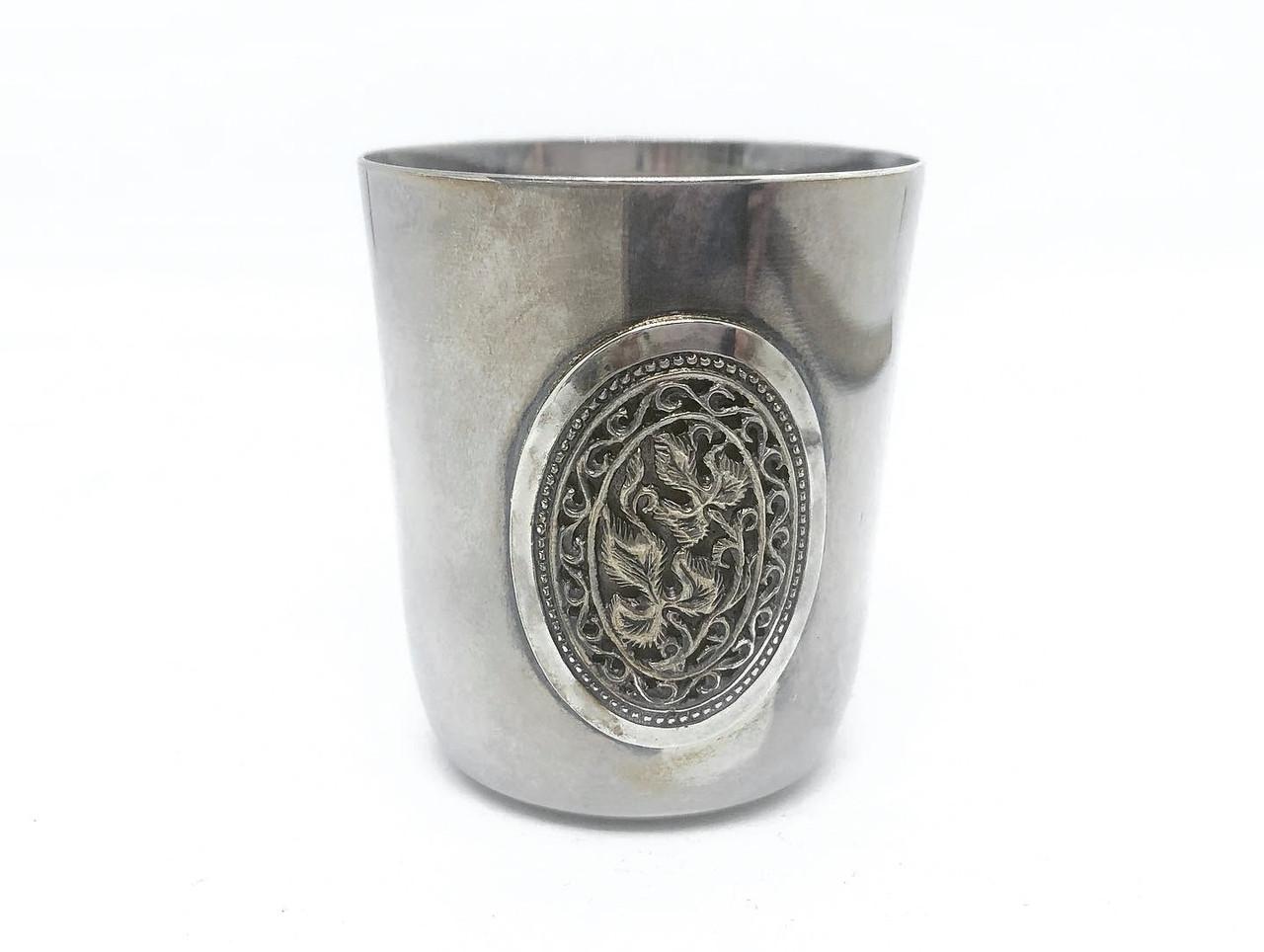 Чарка стопка з срібла Харківський ювелірний завод з візерунком