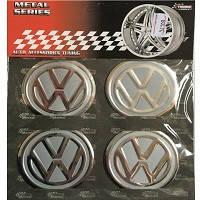 Наклейка на колпаки VW (60мм)  хром
