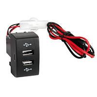 """Гнездо под 2 USB 12-24V 2х3A  """"Lampa"""" IVECO Stralis 02-12/Hi-Way art.97961 / с предохранителем, LED"""