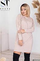 Платье женское Вязка Размер 48 50 52 54 56  В наличии 3 цвета