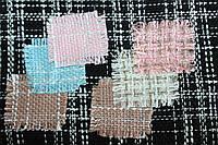 """Твид """" костюмы Шанель""""  цвет Черный  пог. м. № 111, фото 1"""