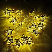 Гирлянда Пандора-звездочки Золото LED 20, фото 1