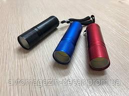 Фонарик-ручной  COB L=85mm 3*AAA металл+ремешек