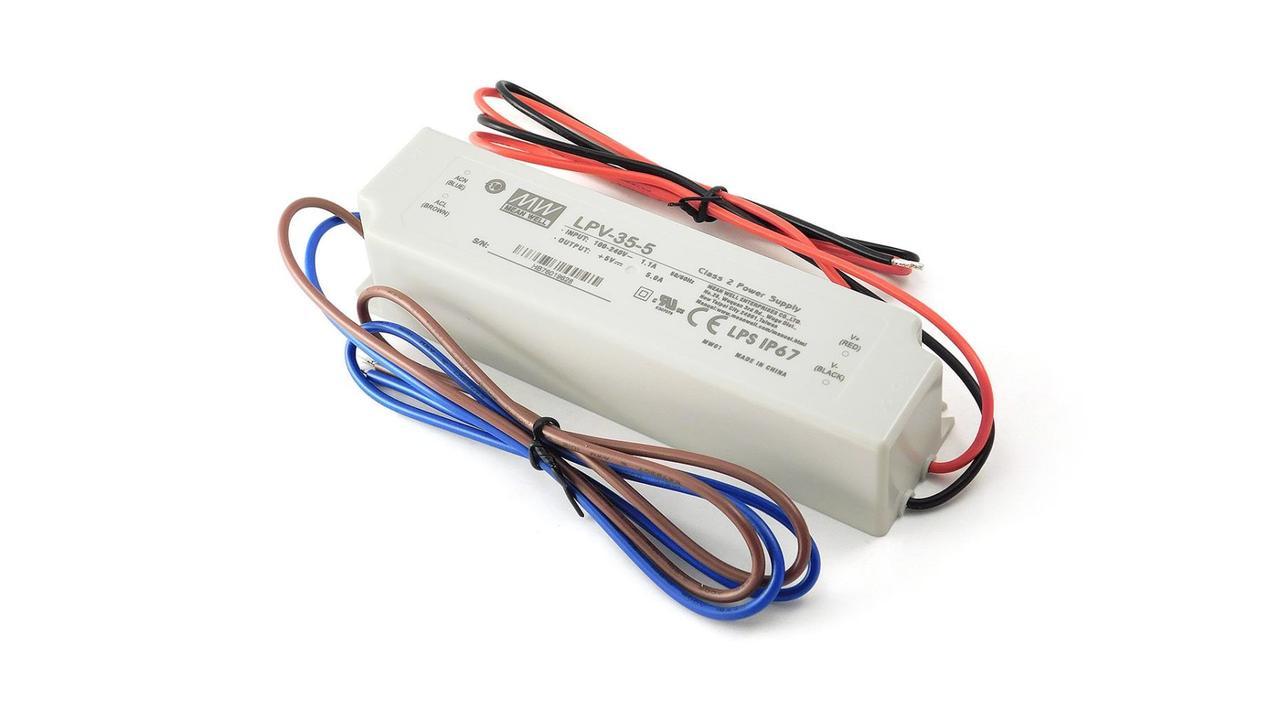 Блок питания импульсный Mean Well 30W 5V (IP67, 6A) PRO