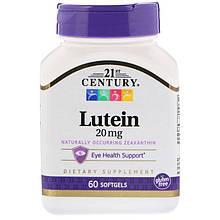 "Лютеин для зрения 21st Century ""Lutein"" 20 мг (60 гелевых капсул)"