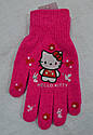 Рукавички дитячі в'язані для дівчинки Hello Kitty рожеві (Ugur, Туреччина), фото 2