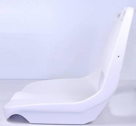 Сиденье пластиковое  белое, фото 2