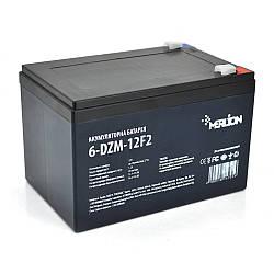 Тяговая аккумуляторная батарея AGM MERLION 6-DZM-12, 12V 12Ah F2 (151х98х101 мм) Black Q4