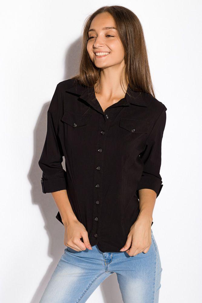 Рубашка женская черная