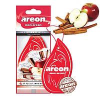 """Освеж.сухой листик - """"Areon"""" - Mon листик - Apple-Cinnamon (Яблоко-Корица) (10шт/уп)"""