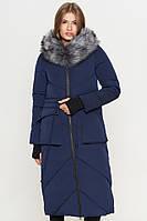 11 Киро Токао | Синяя женская куртка с глубокими карманами модель 1808