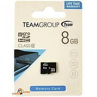 "Карта памяти Micro - SD  8Gb(без адаптера) 10класс ""TeamGroup"""