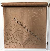 Готовая тканевая ролета Натур Коричневый 1827 70см