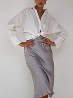 Шелковая юбка с резинкой на талии, длиной по щиколотку (42-48), фото 1