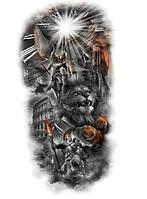 """Наклейка """"Ангел - лев - рыцарь""""  48*25 см  (1шт)   нт 0002"""