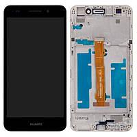 Дисплей (экран) для телефона Huawei Y6 II CAM-L21 + Touchscreen with frame (copy) Black