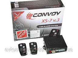 """Сигнализация 1-стороняя с силовым выходом без сирены """"Convoy"""" XS- 7 v3 /турботаймер/блок.двигателя"""
