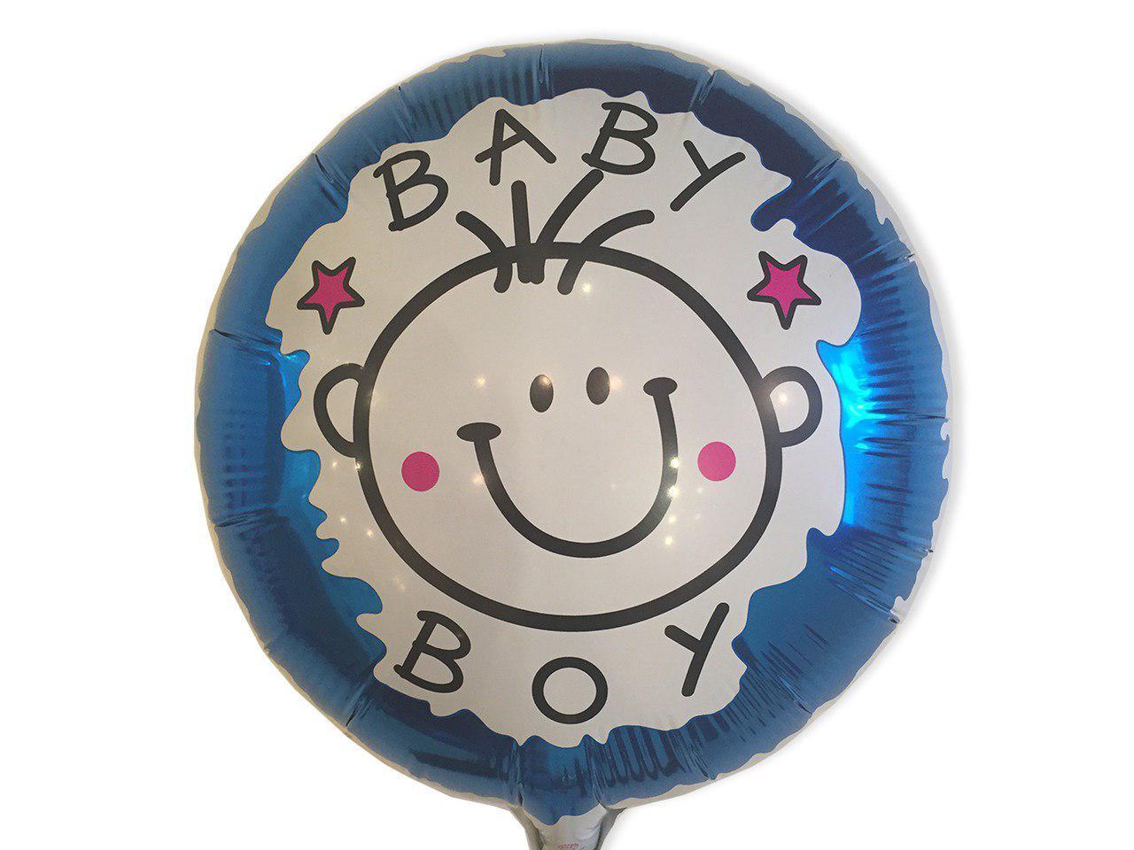 """Фольгированный шарик """" Круг Baby Boy"""" 18""""(45см)"""