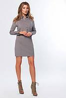 Модное вельветовое женское платье миди с длинным рукавом (р. XS, S, M, L )