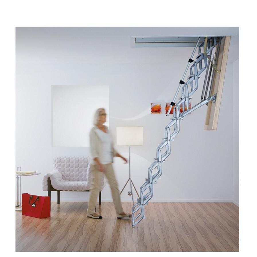 Чердачная лестница Roto Exclusiv металлическая ножничная