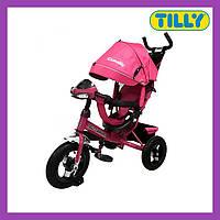 Велосипед трехколесный TILLY CAMARO (T-362 Розовый), металлическая рама, музыкальная фара, Тили Камаро